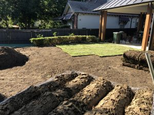 Installing turf